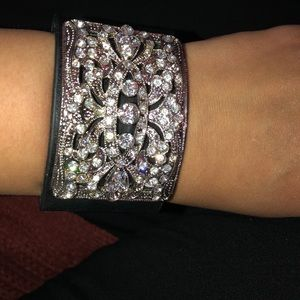 Jewelry - Sparkle Leather Cuff Bracelet